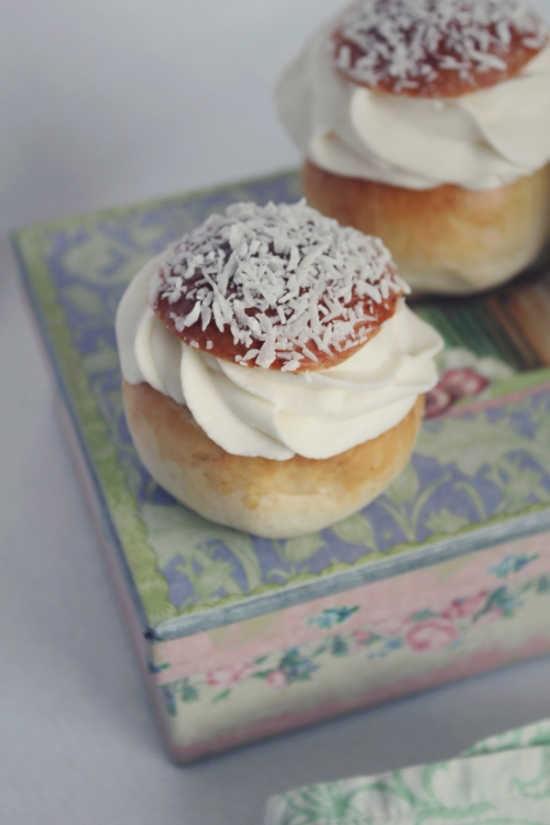 The Swedish Semla, with Chocolate and Coconut Fillings
