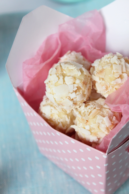 Pineapple and Coconut Truffles