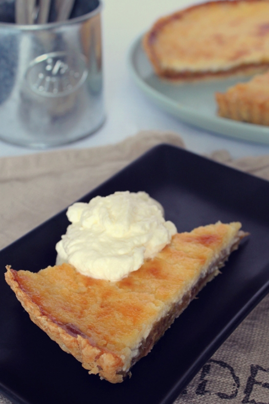 Rhubarb Cream Cheese Tart