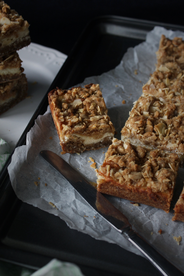 Coconut Dulce de Leche Bars with Cheesecake Filling