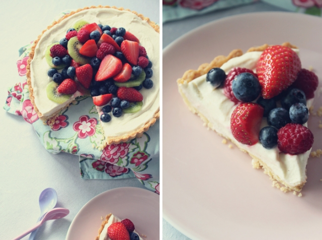 Lemon Curd Pie with Fresh Fruit and Berries