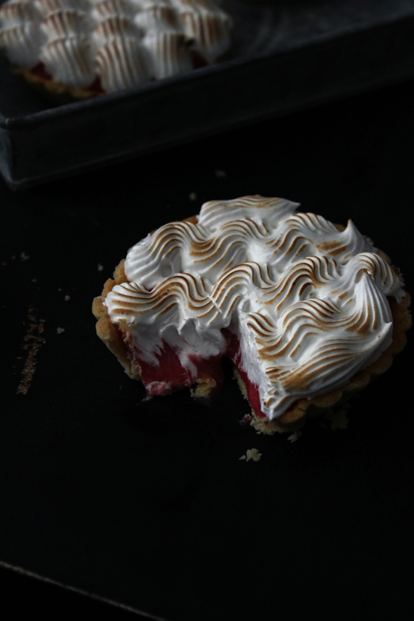 Red Currant Tartlets with Italian Meringue