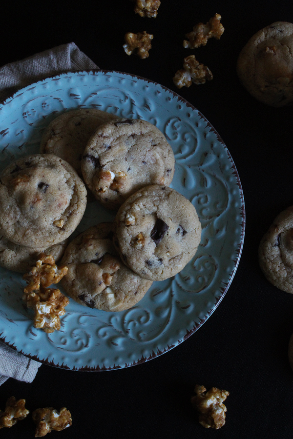 Caramel Popcorn Chocolate Chip Cookies